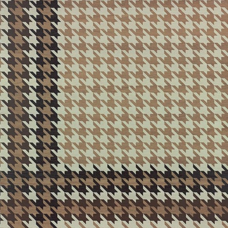 "DWOOD HOUNDSTOOTH NATURAL 24""X24"""